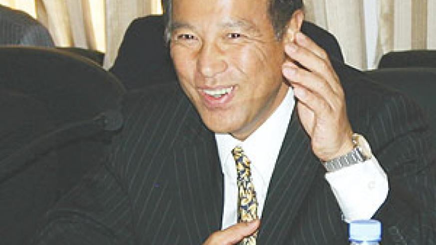 WE ARE COMING:  Japanese diplomatic Seiji Okada making a point during the meeting mid this year. ( File photo)