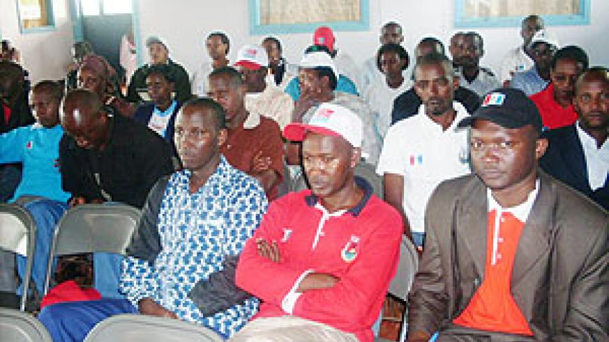 RPF members at  one of its  meetings. (Photo: S. Rwembeho)