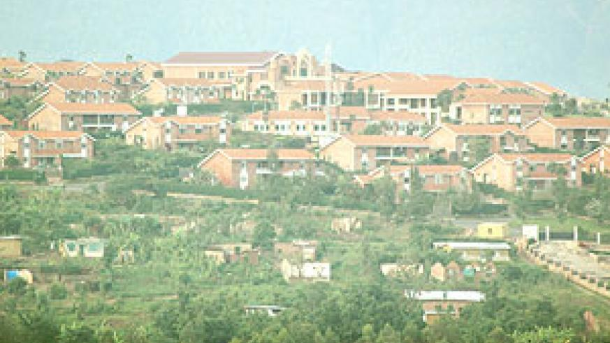 An earial view of the Gacuriro-based estate developed by SSFR. The body plans to build a bigger estate in a nearby site.