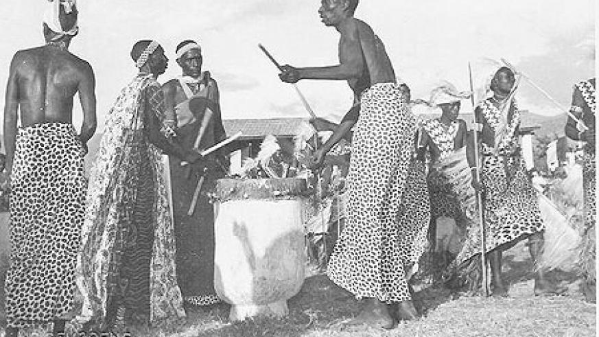 Traditional drummers.