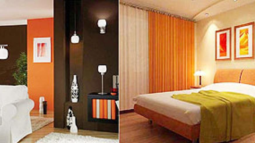 L-R : Colour, and furnishing are just as important as lighting, they all work together to create harmony.;A bedroom where a variety of lights are used to create a refreshing atmosphere.