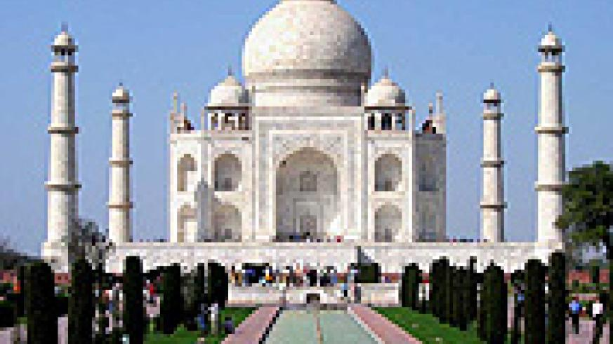 The iconic Taj Mahal. India is throwing its weight about economically.