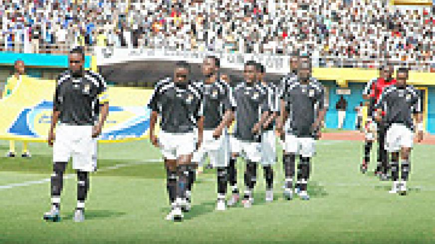 TOUGH TASK AHEAD: APR players make their way to the field during last year's league. The army-side will have to negotiate past Angola's Recreativo de Libolo and TP Mazembe. (File Photo)
