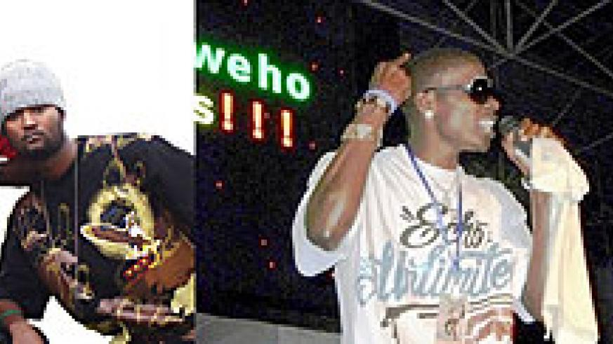 L-R : The Family Squad is back;Artist Young Junior;Youngster Lil Ngabo on stage