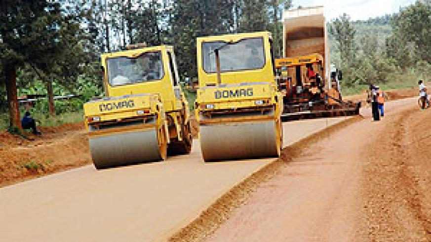Feeder road being upgraded. (File photo)