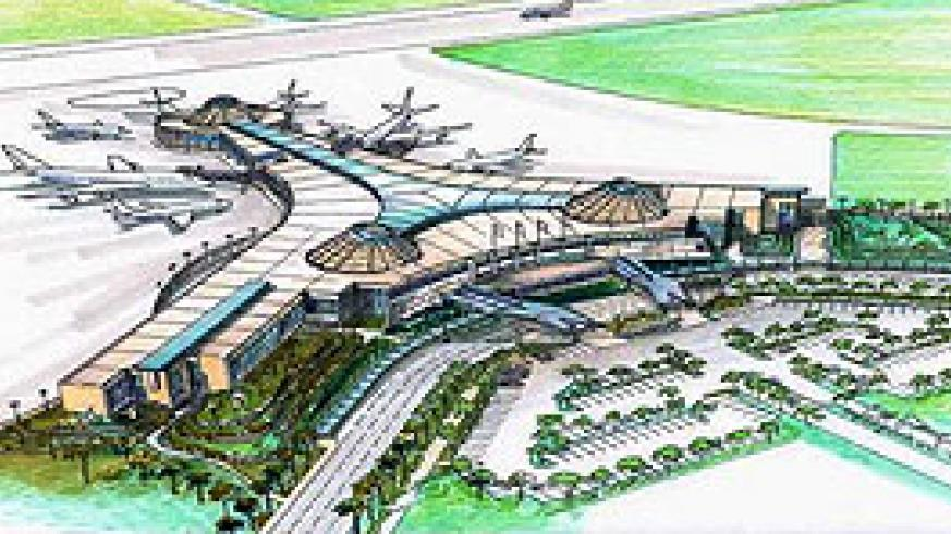 The Artistic impression of the soon to be under construction Bugesera International Airport.