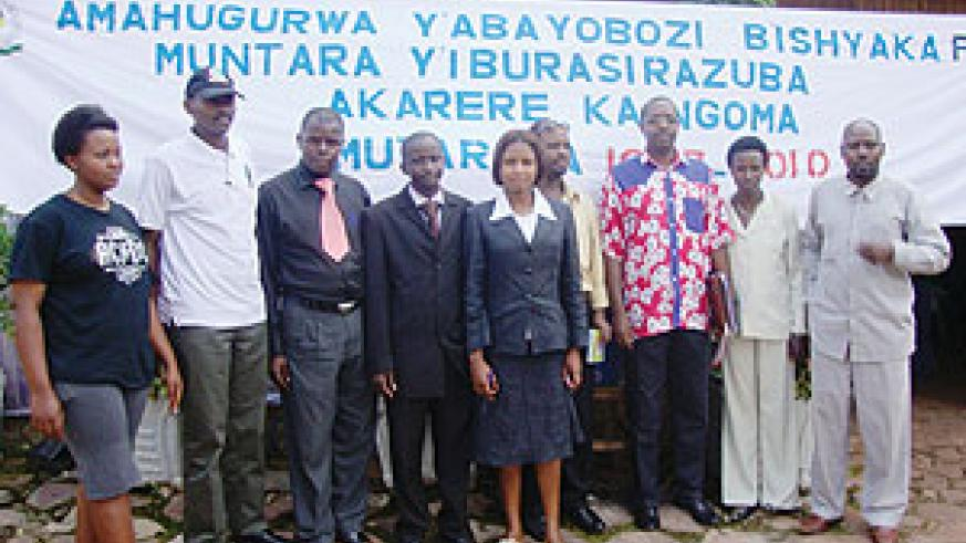 Executive members of PSP party and NEC officials pose for a photo in Ngoma district.