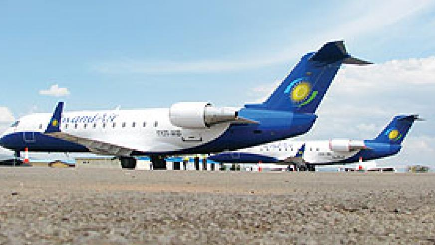 The recently acquired RwandAir CRJ 200s (File Photo)