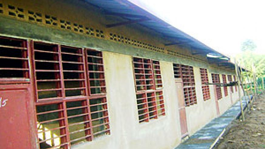 One of the new classroom blocks that have been finalized in readiness for the  new academic year. (Photo /s. Rwembeho)