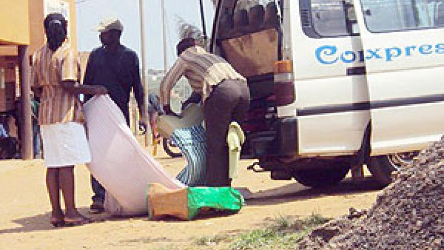 Some of the students sent packing by the varsity administration after failing to secure Goevrnment scholarships. (Photo: D. Ngabonziza)