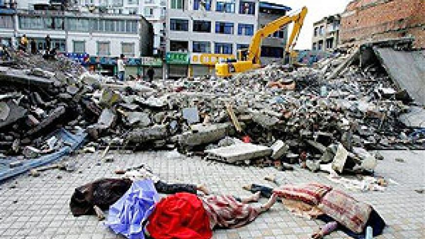Images from the ShiChuan earthquake. What kind of disaster prepardness program does Rwanda have in place?