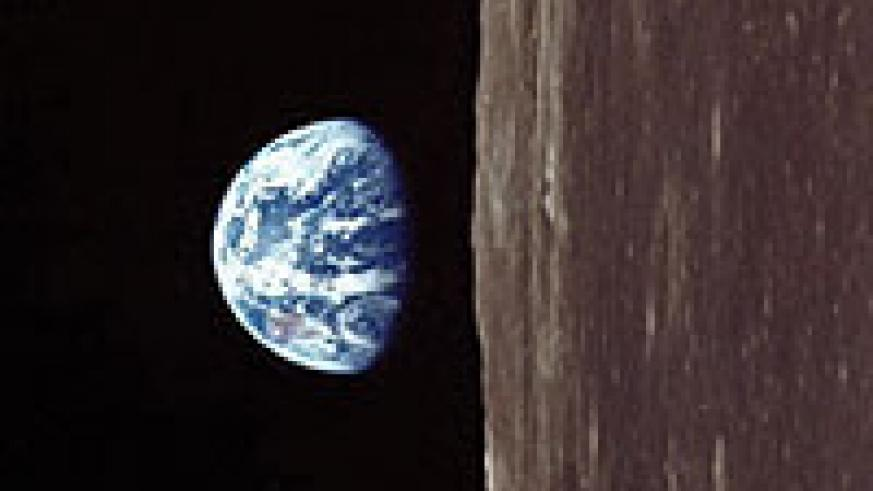 How the earth looks like from the moon.
