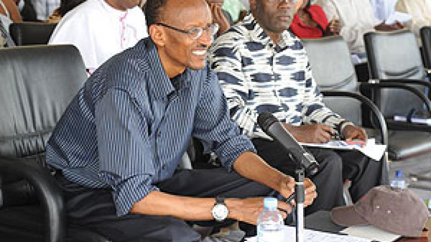 President Kagame listens and engages with citizens in Ruhango