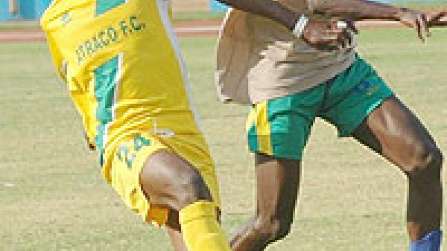 Andre Lomami and his Atraco teammates are eager to see off Nyanza in the MTN Peace Cup.