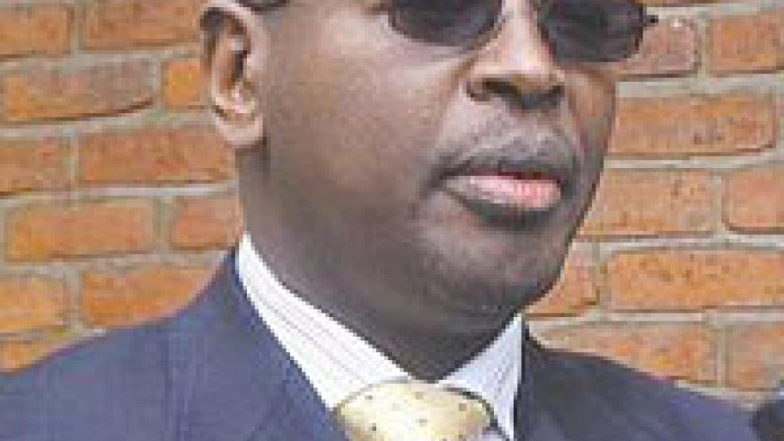 The Local Government Minister, James  Musoni. Local government leaders were in a meeting in Musanze.
