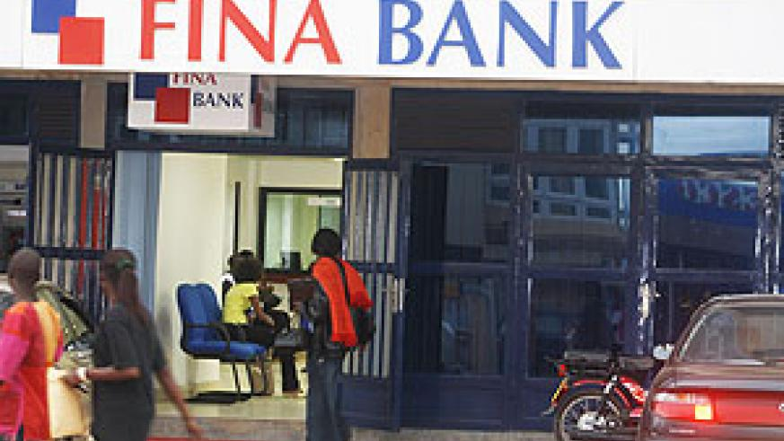FINA bank branch at Remera (File Photo)