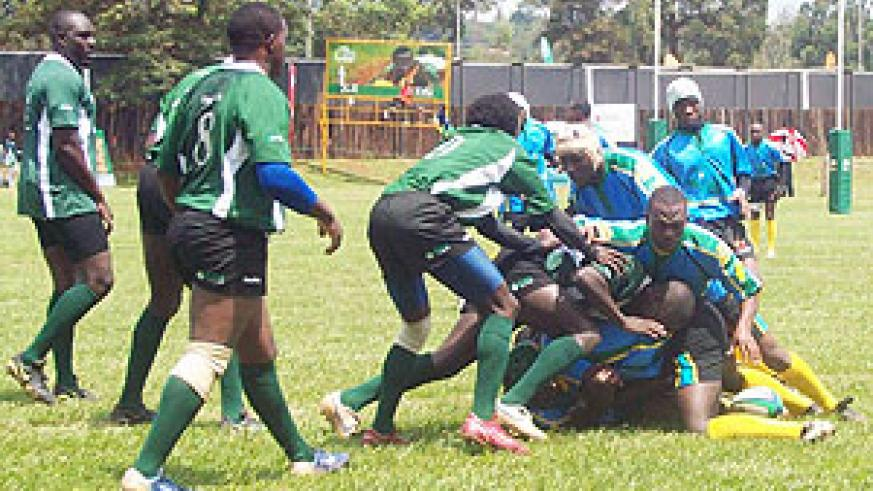 Rwanda's Silverbacks in action during a recent regional tournament.
