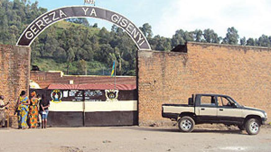 The front view of Gisenyi Central Prison. (Photo/ R Mugabe)
