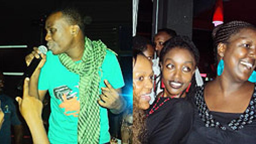 L-R : Nasty Lee embraces a beauty ;King James stole the show ; It was all smiles for Shanel and company ;Tigo sponsored the lovers night.