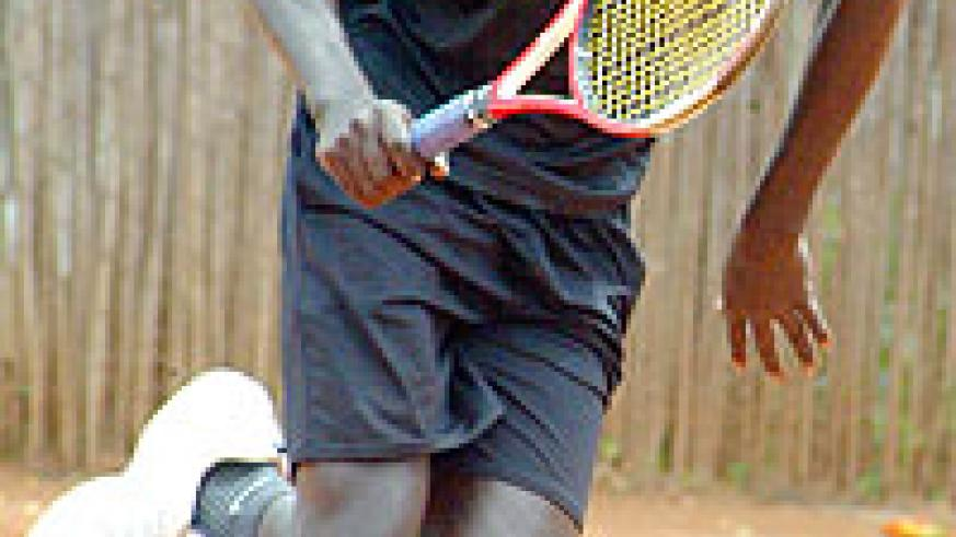 OUT: Gasigwa could not see off Kenya's Francis Rogoi in yesterday's semi-final.