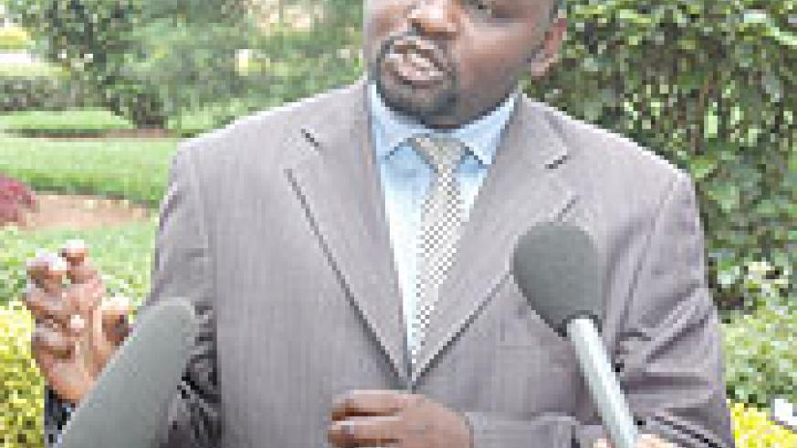 CONFIRMED: Alphonse Nizeyimana the KCC Vice Mayor in charge of Finance. (File Photo)