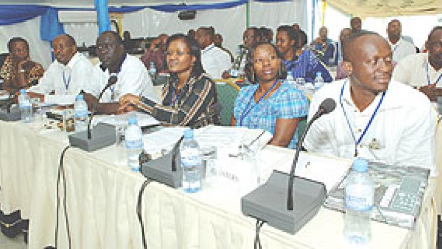 Some of the Cabinet Ministers attending the Leadership Retreat. (Photo Urugwiro Village)