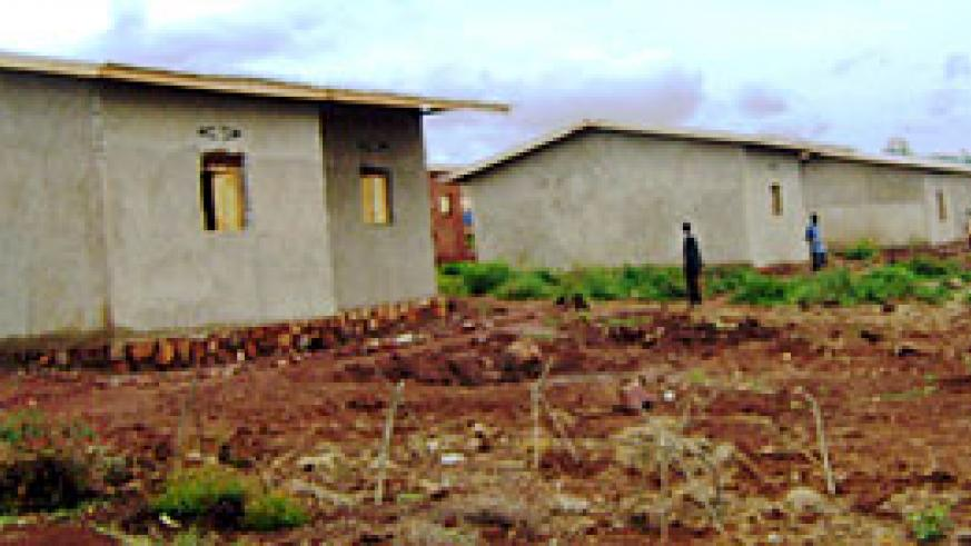 A section of the 40 houses constructed for the needy. (photo / S. Rwembeho)