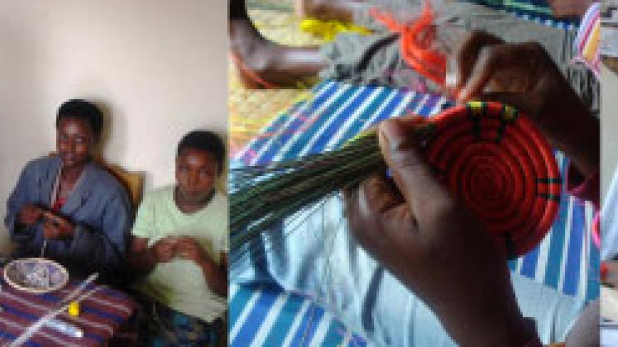L-R : Homeless youth find a safe haven at Centre Marembo which, has become a home away from home ; Women are trained to support themselves through the basket weaving ; The card-making workshop is one of the skills learnt at the centre.