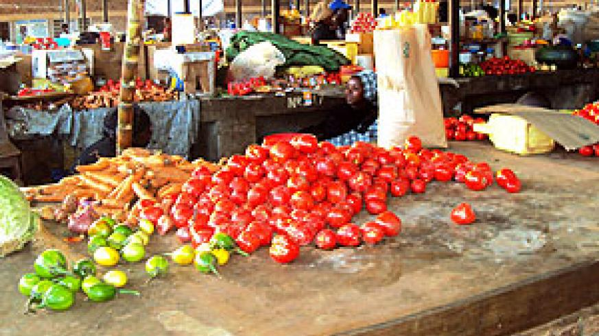 Tomatoes in a local market. (Photo / S. Rwembeho)
