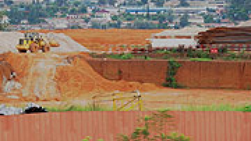 UNDER CONSTRUCTION: Kigali hotel and convention centre complex is expected to be completed by 2012. (Photo; F. Goodman)