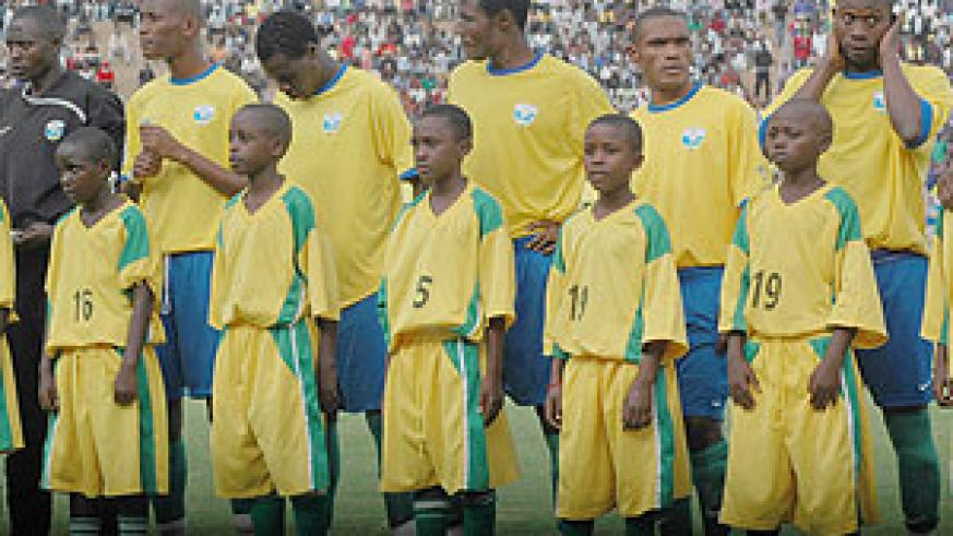 Amavubi players are desperate to make amends after a hasty exit in last year's CHAN qualifiers. (File photo)
