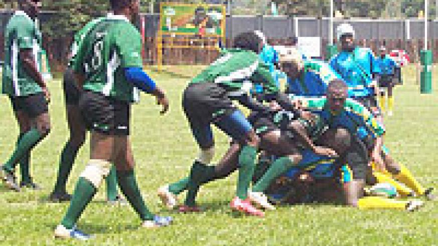 Rwanda's Silverbacks in action during a recent regional tournament. (File photo)