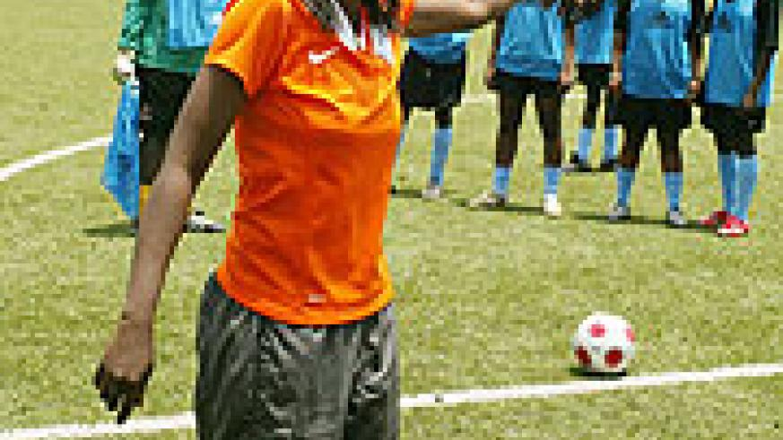 AS Kigali coach Grace Nyinawumuntu expects her side to defend the league title. (File photo)