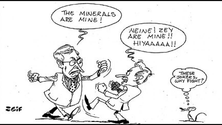 Two German nationals, Gerd Jager and Gordon Bartosik caused a scene on Thursday in Rwamagana district when they exchanged blows over ownership of a mining company.