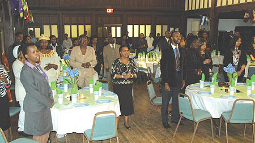 Rwandans in the US took time to pray for their country. (courtesy photo)