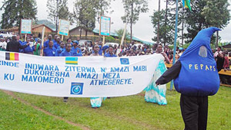 A cross section of participants during the  ceremonies to mark Interntional Women's Day in Huye. (Photo: P. Ntambara)