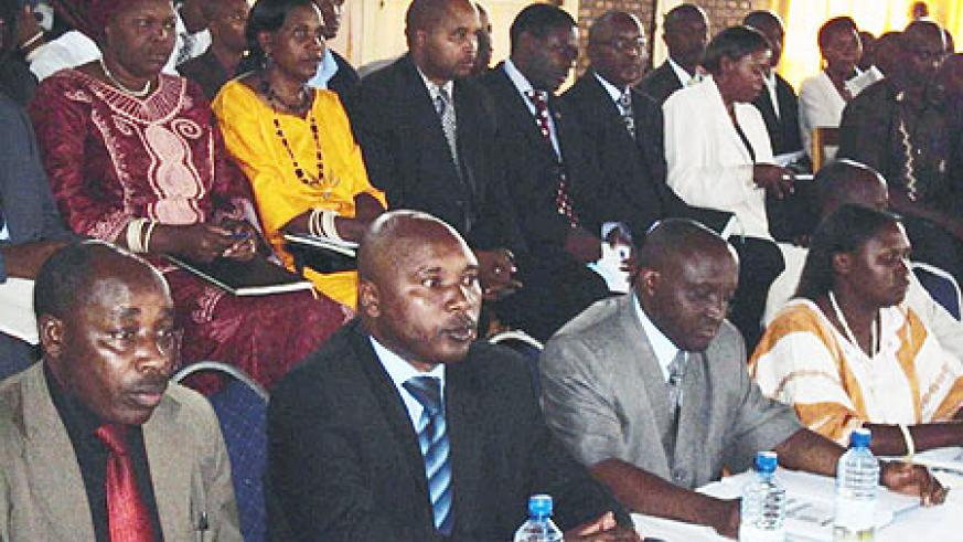 District mayors from the Northern Province during the retreat.(Photo: B. Mukombozi)