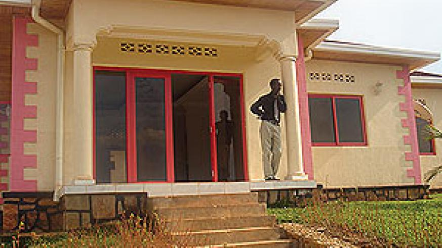 The dream house that is yet to be won by one lucky Rwandatel subscriber (Courtsey Photo)