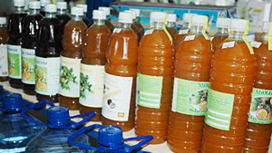 Some of the products that are locally produced. (File photo)