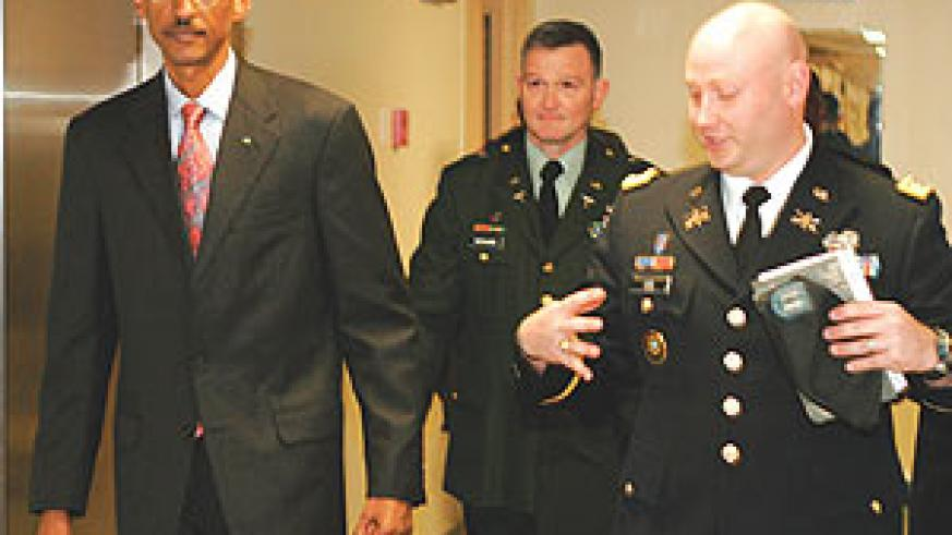 President Kagame  tours US Military Academy at West Point over the weekend.(Courtesy photo)