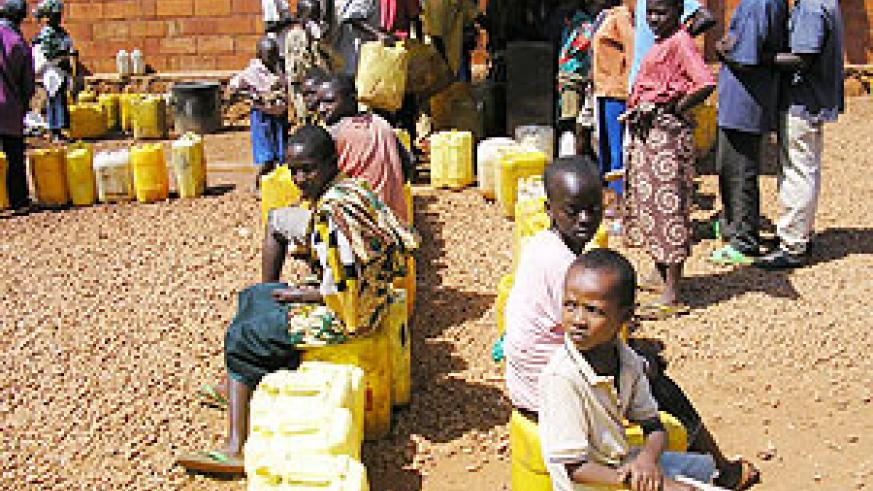 IN SEARCH OF THE SCARCE COMMODITY; Many countries in Africa lack access to clean water. (File photo)