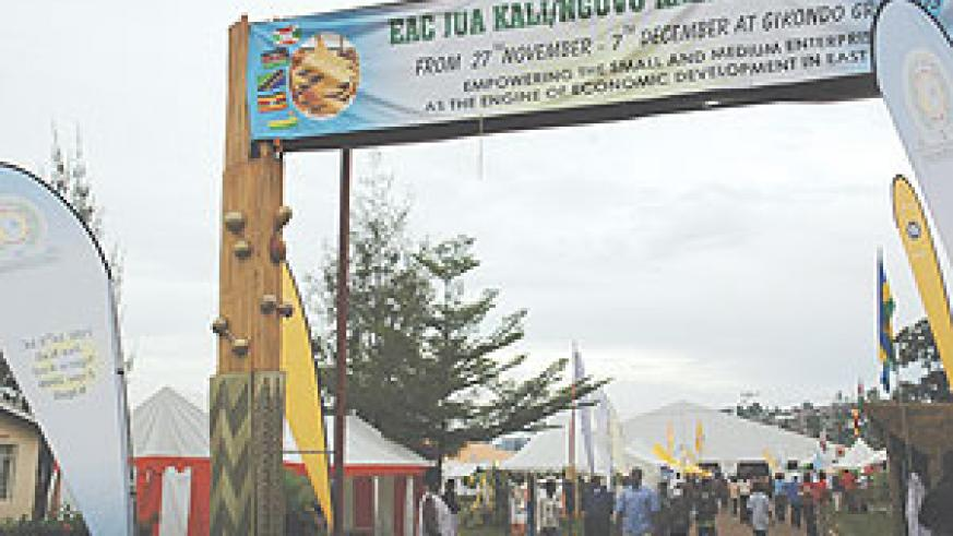 Regional exhibitors in one of the expos in Kigali. (File photo)