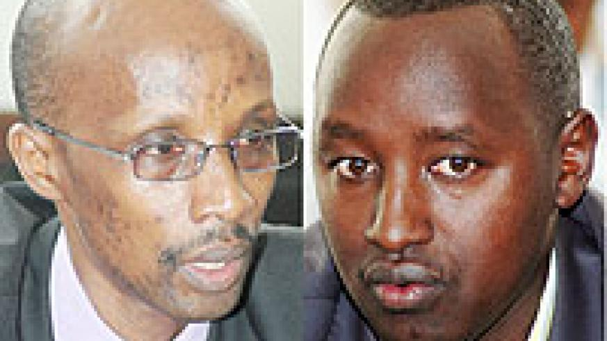 L-R : Willy Rukundo:  Acting Director General of ORINFOR ; Patrice Mulama:Executive Secretary of the Media High Council.
