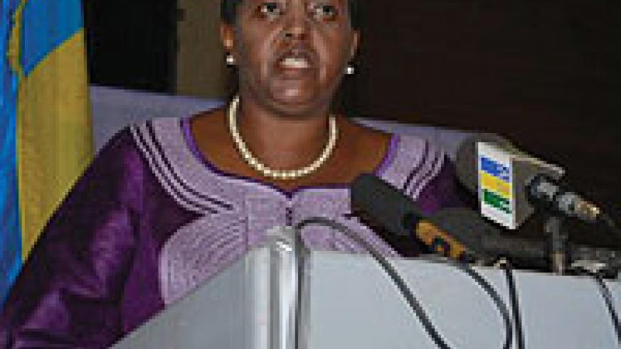 Rwandan High Commissioner to Tanzania, Fatuma Ndangiza ,delivers her speech in Dar-es-Salaam