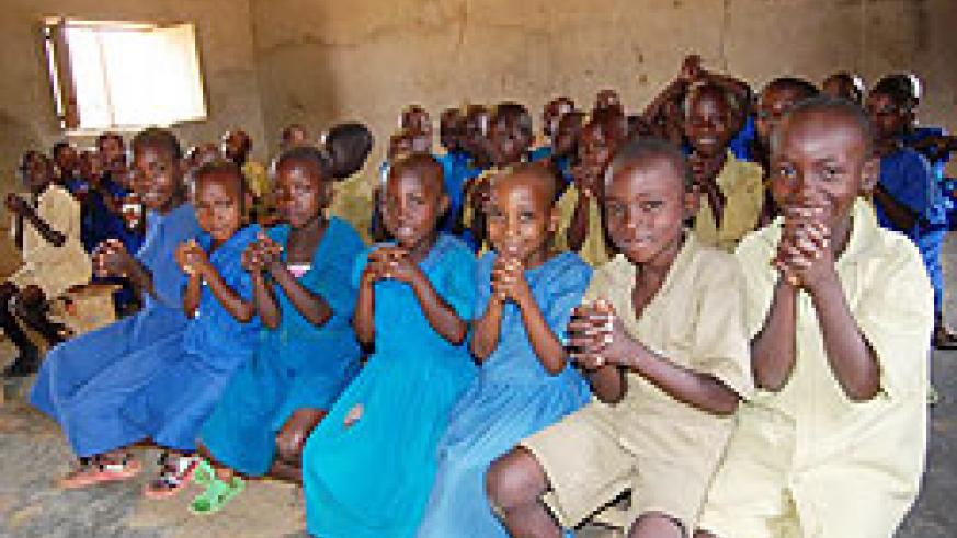 Children at school. We must ensure that they are able to enjoy their right to education