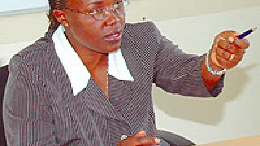 The Minister of Gender and Family Promotion, Jeanne d'Arc Mujawamariya