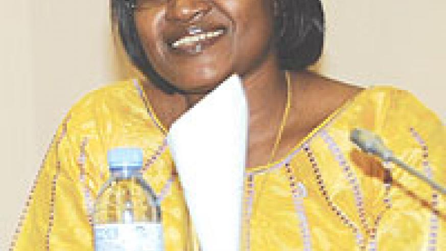 Minister of East African Affairs  Monique Mukaruliza.