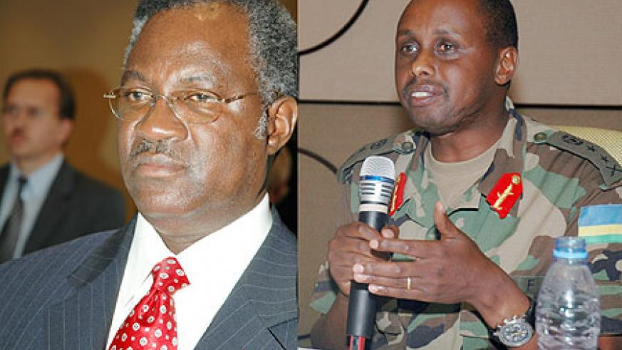 L-R : Former Minister of Defence Gen.Marcel Gatsinzi ; PROMOTED; Ceasar Kayizari was elevated to Lt. General (File Photo)