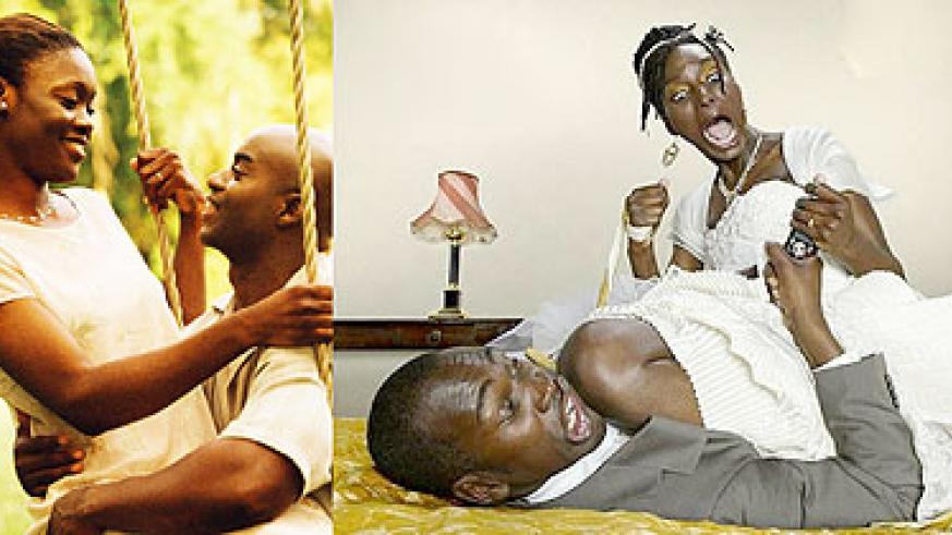 L-R : The right idea of marriage ; The wrong idea of marriage. (Net photoS)