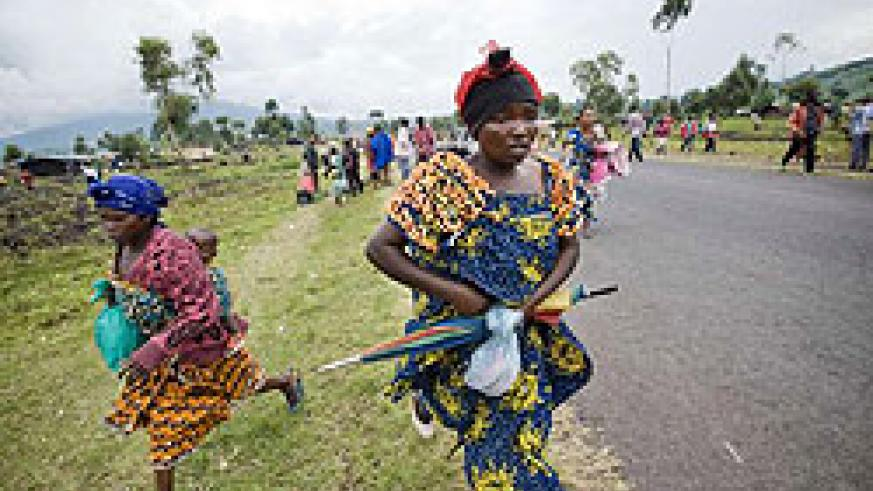 Violence in eastern Congo has forced thousands to flee their homes and led to widespread sexual violence against women. (Net photo)
